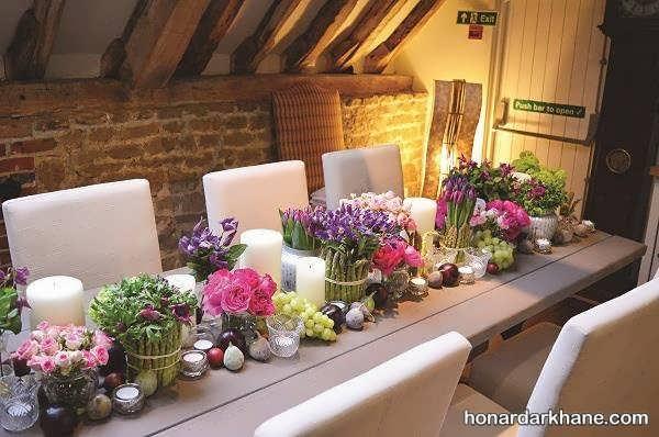 بی نظیر ترین تزیینات میز با گل