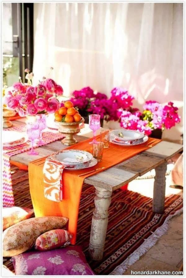 تزیین میز به شیوه بسیار جالب