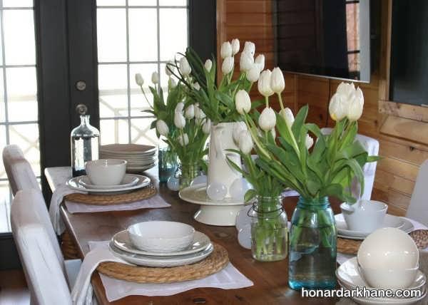 تزیین به شیوه جالب برای آراستن انواع میز