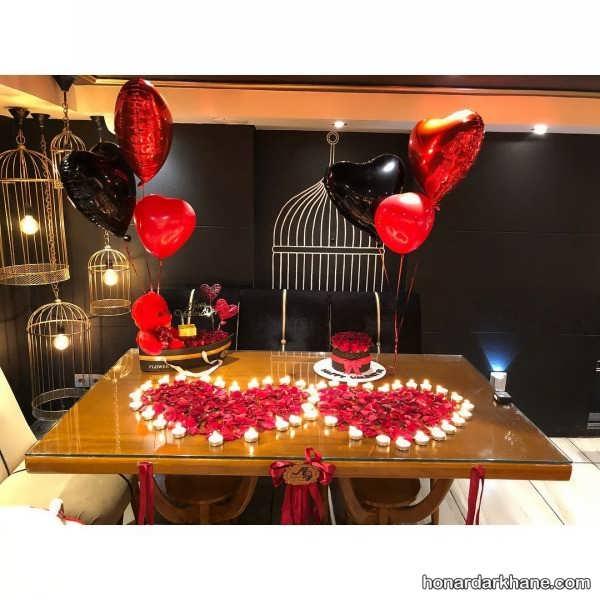 انواع تزیینات میز برای جشن های عاشقانه