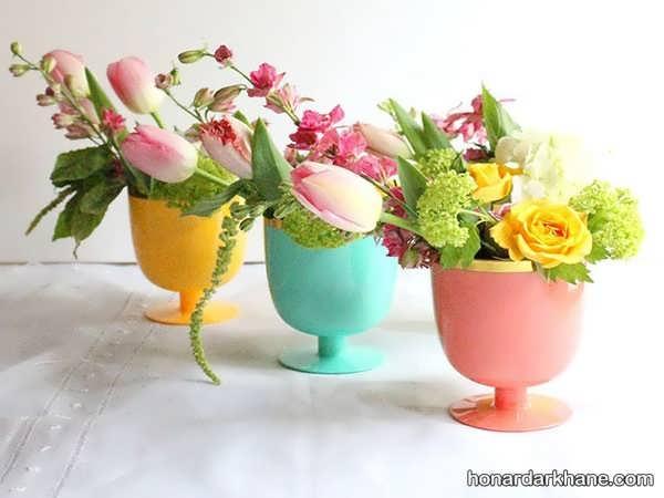 تزیین زیبا و جالب میز با گل