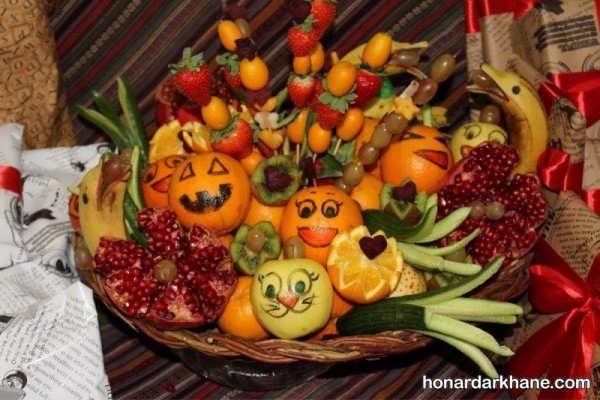 انواع بسیار زیبا میوه آرایی در سبد