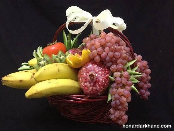 تزیینات بسیار زیبا انواع سبد با میوه