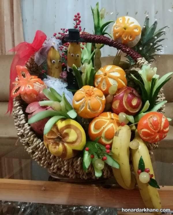 خاص ترین انواع میوه آرایی در سبد