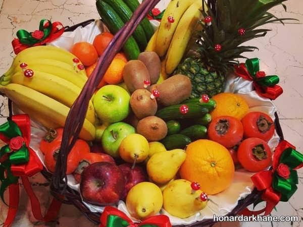چیدمان میوه در سبد با ایده های خلاقانه