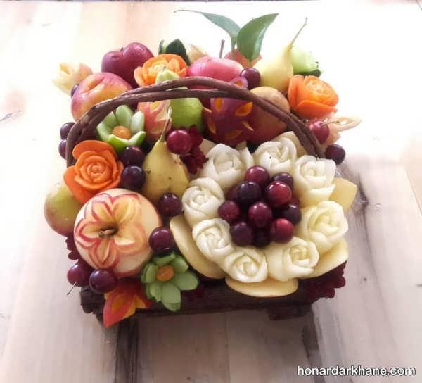 تزیین میوه در سبد های مختلف