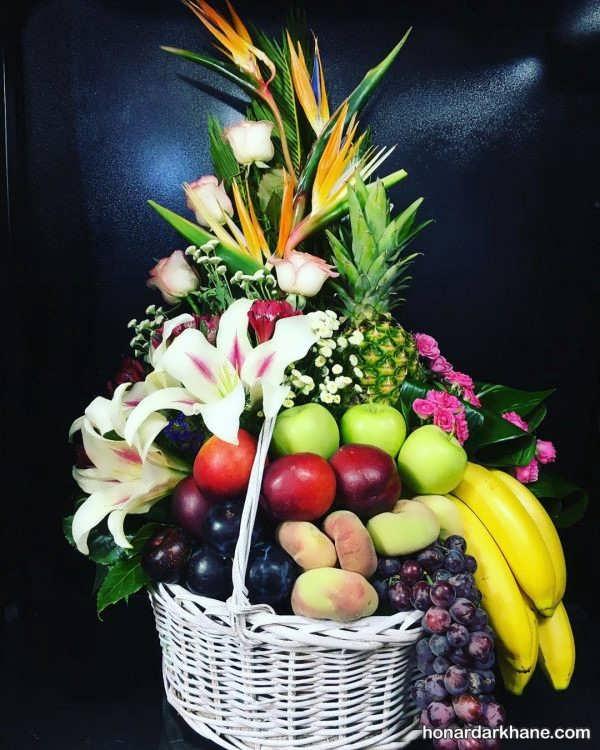 زیباترین چیدمان انواع میوه در سبد