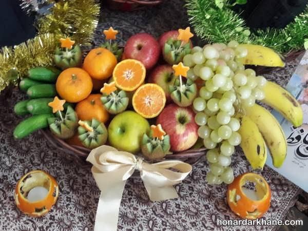 طرحی میوه در سبد با ایده های جالب