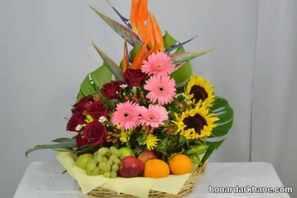 انواع تزیین میوه در سبد