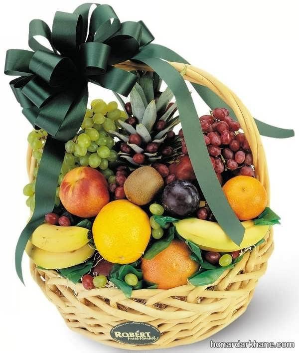 مدل های متنوع میوه آرایی در سبد