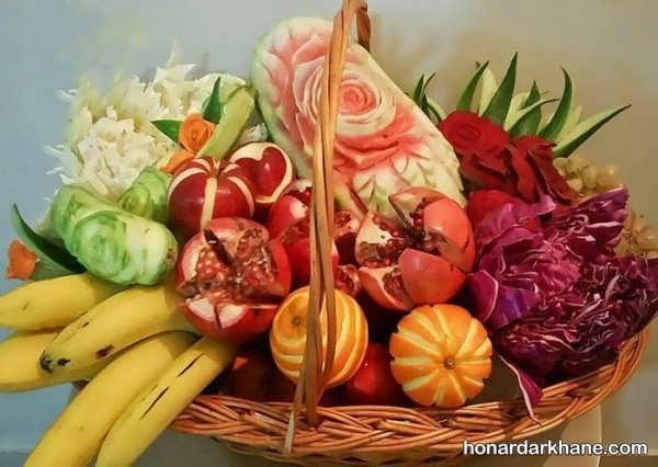 انواع بسیار زیبا طراحی میوه ها در سبد