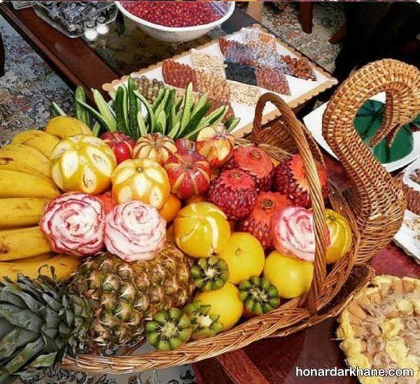 تزیین انواع سبد با میوه های مختلف