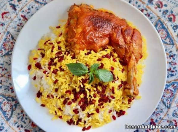 دستور پخت بسیار خوشمزه زرشک پلو با مرغ