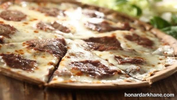 روش آماده سازی پیتزا استیک در خانه