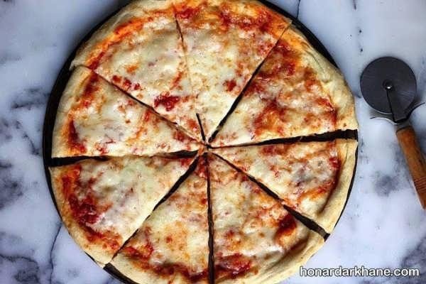 طرز تهیه پیتزای پنیر خوشمزه