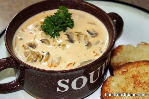 روش آماده کردن سوپ قارچ