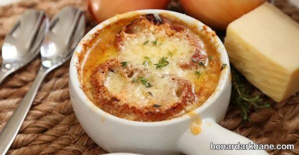 روش پخت سوپ پیاز با دستور تهیه ساده