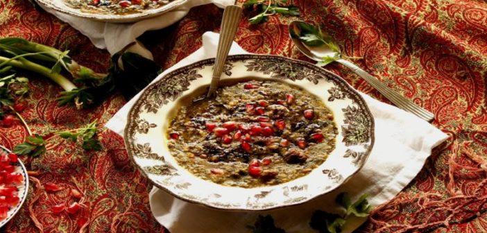 طرز تهیه آش انار مخصوص شب یلدا