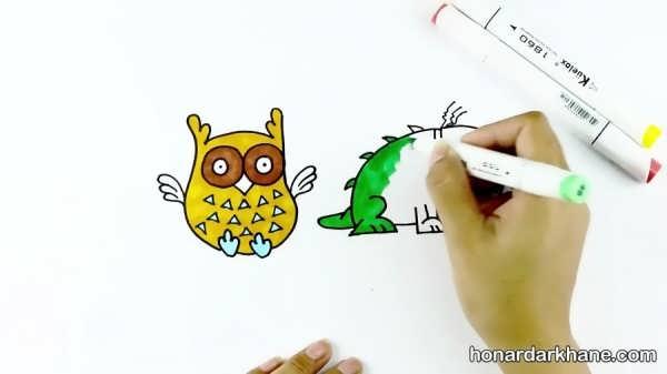نقاشی های کودکانه با حروف انگلیسی