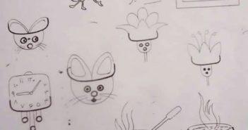 نقاشی های کودکانه با حروف الفبا