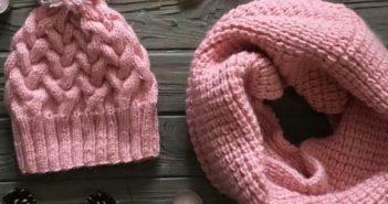شال و کلاه بافتنی دخترانه در انواع گوناگون