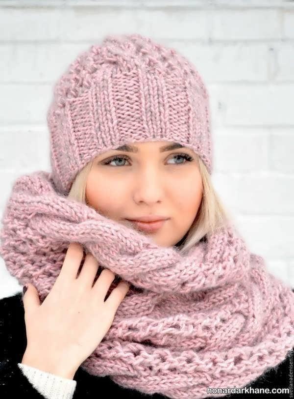 شال و کلاه زمستانی بسیار جالب