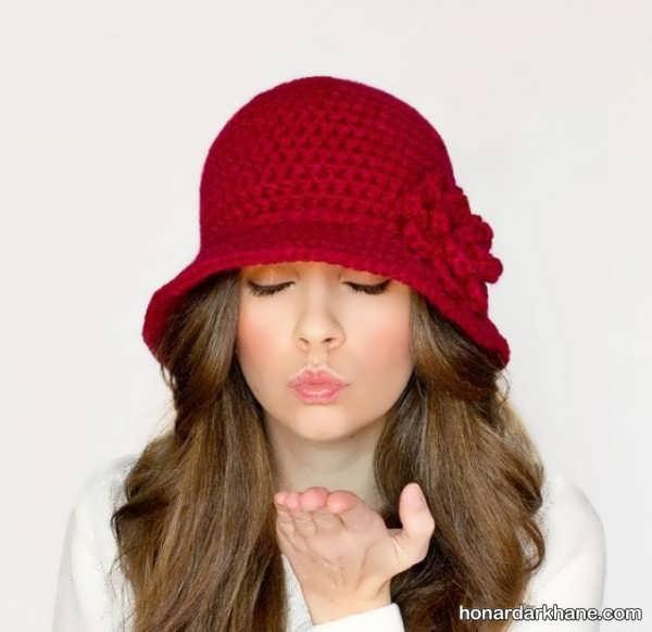 انواع شال و کلاه بافت جدید
