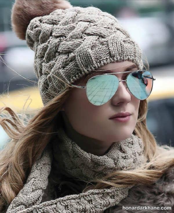مدل های دخترانه شال و کلاه زمستانی