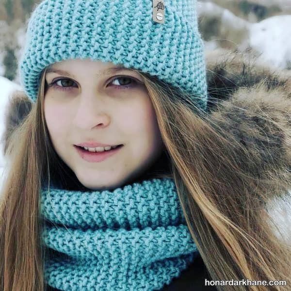 شال و کلاه بسیار جالب برای فصل سرد