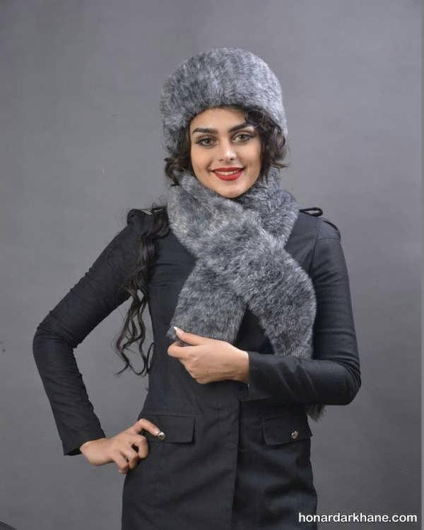 کلاه و شال زمستانی خیلی زیبا