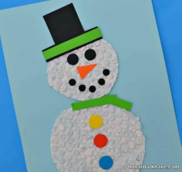 انواع کارهای کودکانه زمستانه