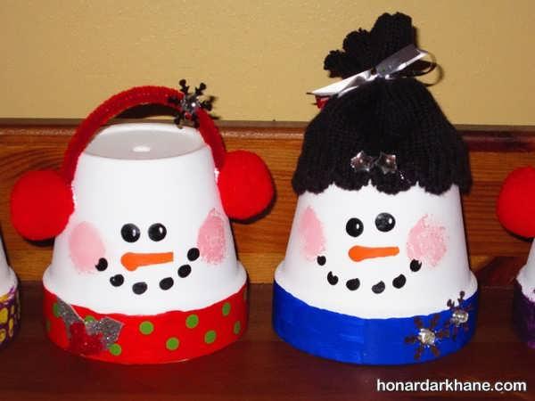 مدل های مختلف هنرهای دستی کودکانه زمستانی