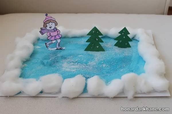 کارهای هنری کودکانه در فصل زمستان