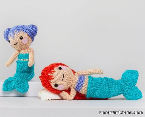 عروسک بافتنی پری دریایی
