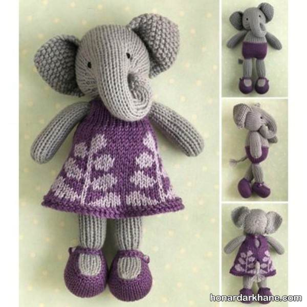 مدل عروسک فیل بافتنی