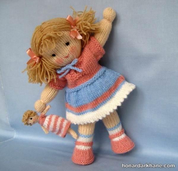 مدل عروسک بافتنی دختر