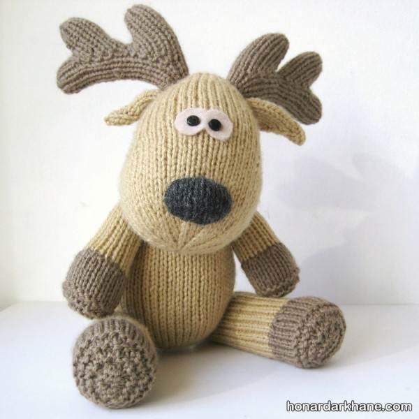 مدل عروسک حیوان بافتنی با قلاب