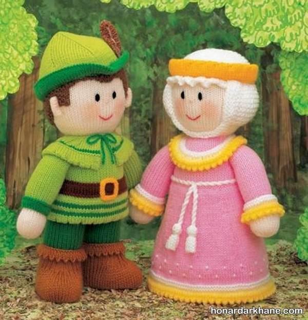 مدل عروسک بافتنی دختر و پسر