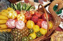 تزیین میوه در سبد