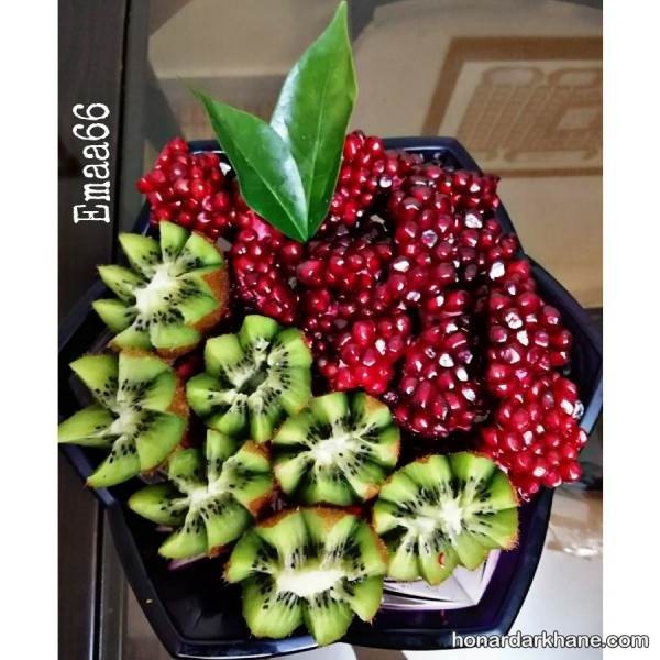 تزیین میوه با انار