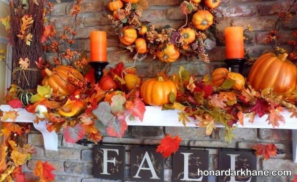 تزیین میز با تم پاییز