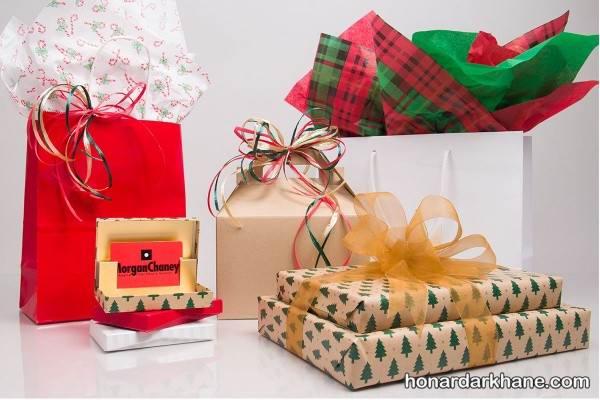 تزیین هدیه با وسایل ساده