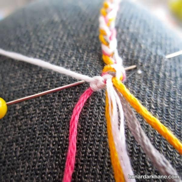 فراگیری بافت دستبند با وسایل دور ریختنی