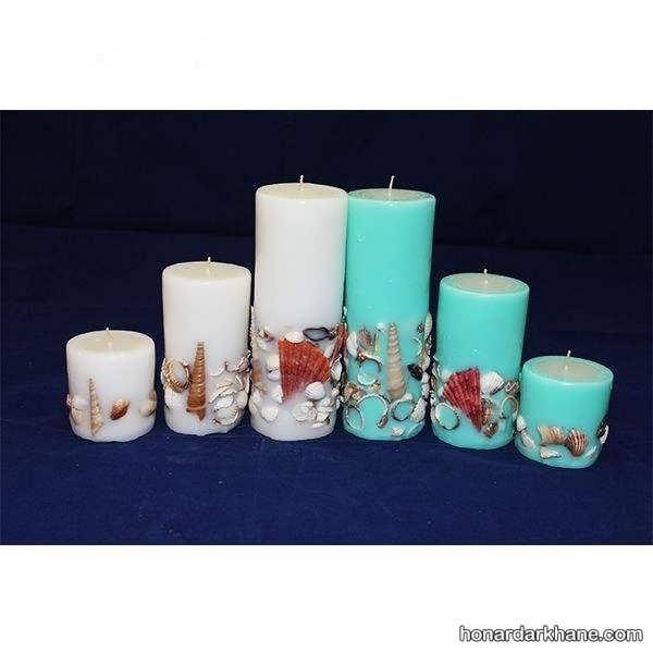 انواع شمع آرایی با تم دریایی