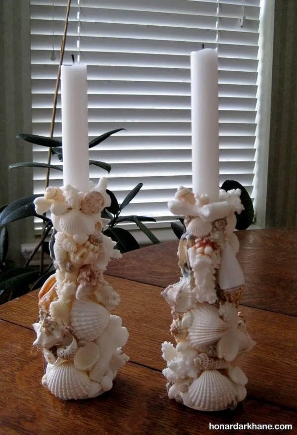 انواع مختلف تزیین شمع با ایده های جالب