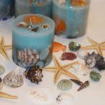 مدل های متنوع تزیین شمع با صدف
