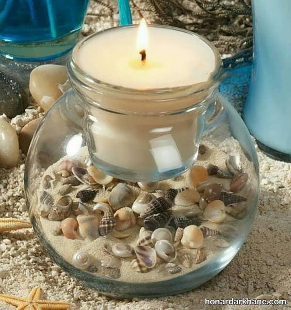 انواع مختلف شمع آرایی با صدف