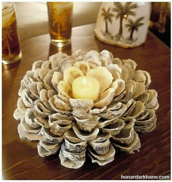 مدل های زیبا شمع آرایی با صدف