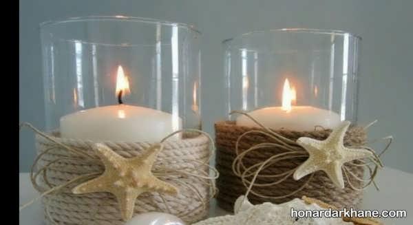 مدل های جالب شمع آرایی با صدف