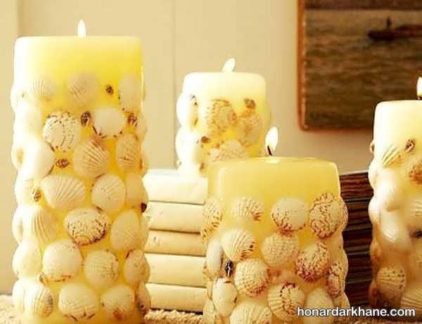 مدل های مختلف و زیبا تزیین شمع